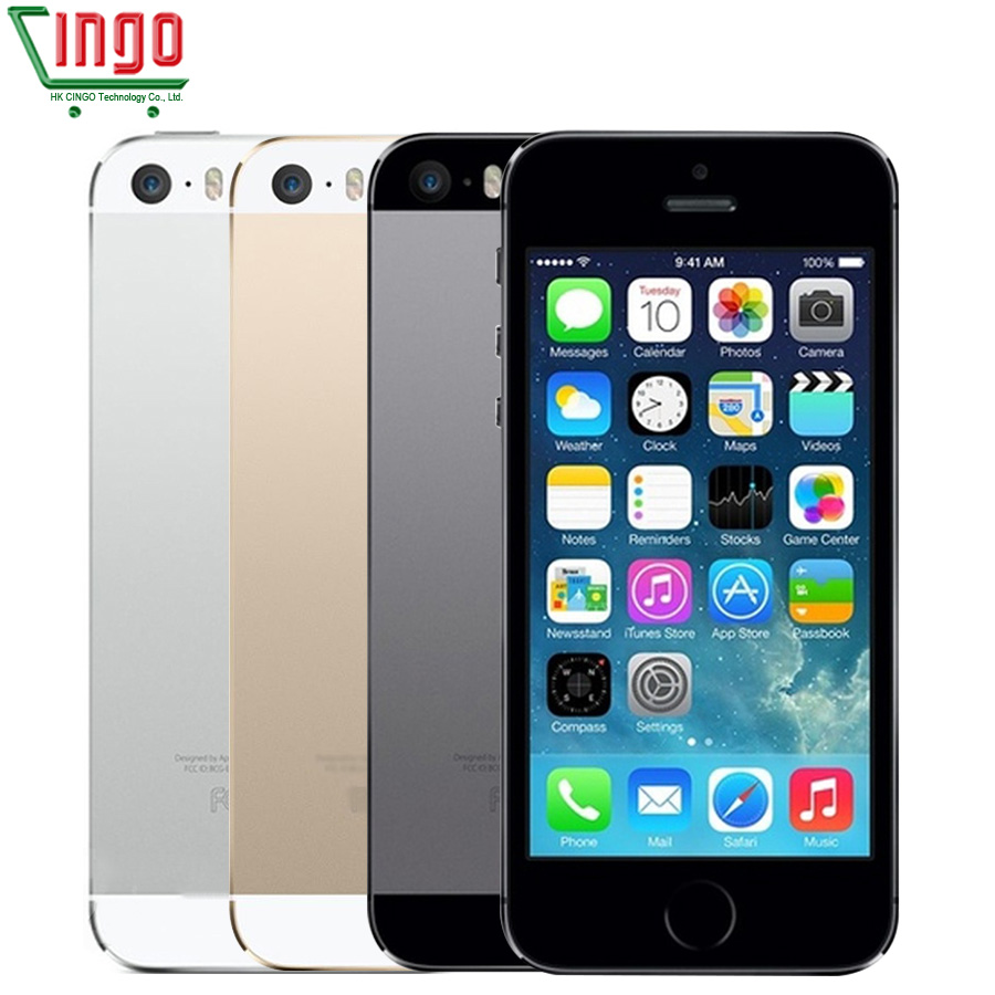 מפעל סמארטפון מקורי Apple iPhone 5S 16 GB/32 GB/64 GB ROM 4.0 אינץ 8MP טביעות אצבע IOS מגע מזהה iCloud App WIFI GPS 5S title=