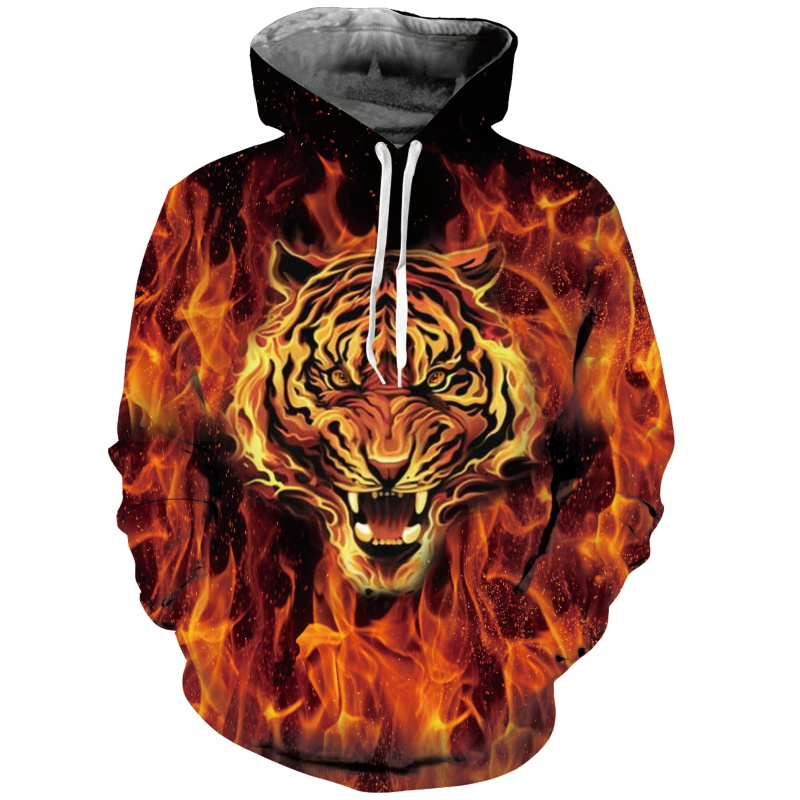 New Fashion Dinosaur Lion Tiger Alpaca Sloth Galaxy Men Hoodies Sweatshirts 3d Print Sweatshirts Cap Tops Men Hooded Nebula Jacket Dropship Men's Clothing
