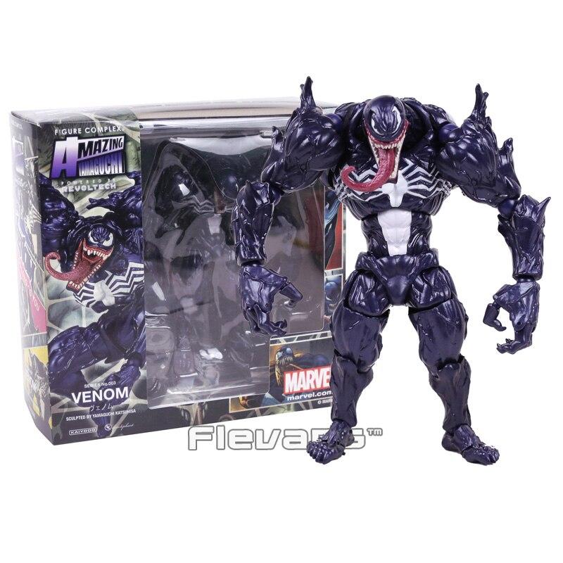 Revoltech Series NO. 003 veneno PVC figura de acción de colección modelo de juguete