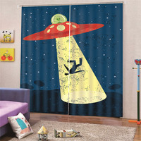 3D Digital Print Alienware Curtain for Bedroom New shade for Living Room Printed Cloth Curtains Bedroom Decor Draps AP23