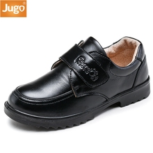 2017 New children's casual shoes Boys Genuine leather shoes kids dress formal occasions Cowhide Material spring autumn black