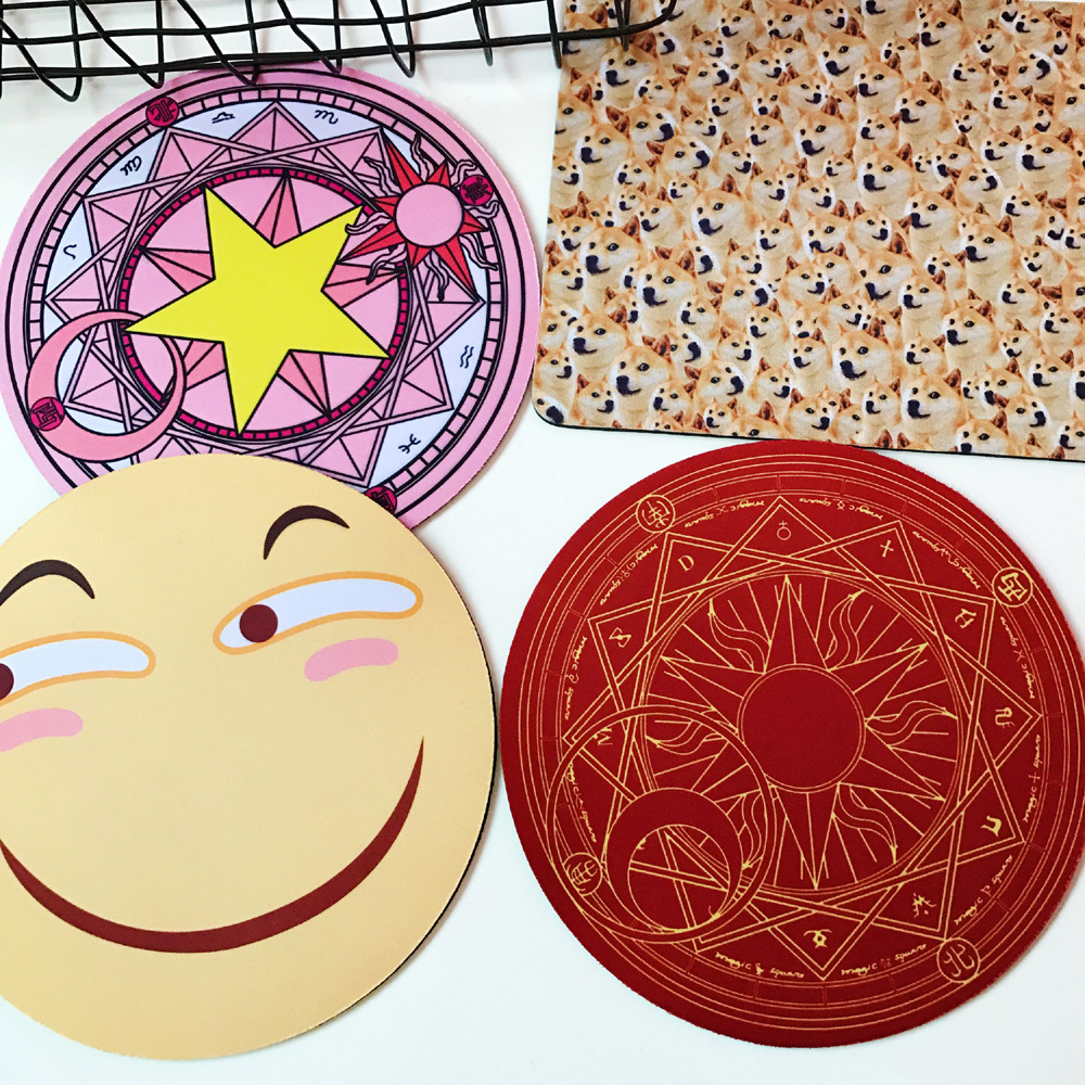 20cm Crirle Round Comics Anime Gaming Working Personalized Durable Gamer Mouse Mice Pad Mat Comfort Pads