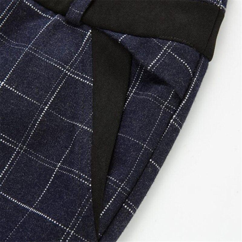Dark Pantalon Laine Lâche Plaids Femmes Ol Jambe Femelle Droit De Nouveau dark A3949 Gray Angleterre Blue Plaid Plaid Style Large Longues Bleu Gris dnxTI0wwq