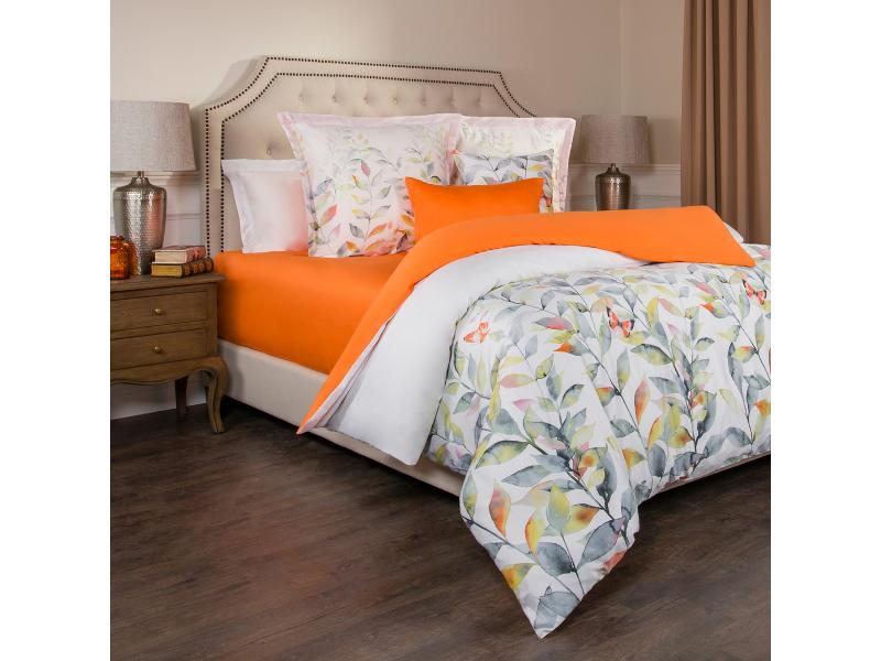 Bedding Set double-euro SANTALINO, Harmonica, White/Orange swan sw24 17 harmonica