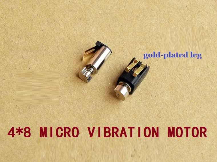 Fast Deliver 100pcs/lot 4*8mm Super Miniature Hollow Cup Motor Elegant In Smell Vibrator 1.5-3 V 0.03-0.06 A With Gold-plated Legs Very Strong Vibrating