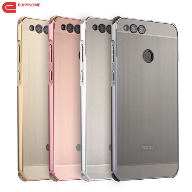 lowest price 45c5a bd397 US $6.25 10% OFF|Case For Huawei Honor 7X Case Original Ultra Thin Metal  Aluminum Frame with Plastic Cover for Huawei Honor 7x Honor7x Case-in ...