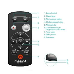 Image 4 - AODELAN ML L7A Wireless Camera Remote Control Remote Shutter Release for Nikon Z50, P1000, B600, A1000, P9, Replaces Nikon ML L7