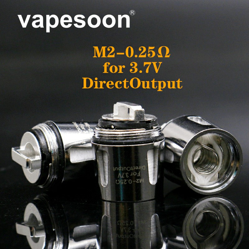 5pcs Baby M2 Coil Replacement Dual Coils Head V8 Baby-M2 Atomizer Core 0.25ohm for TFV8 Baby / TFV8 Big Baby Tank