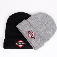 Kamikaze вязаная шапка Eminem Новейший Альбом шапки эластичные бренд KAMIKAZE вышивка бини зимняя теплая Skullies& лыжные шапочки кепки