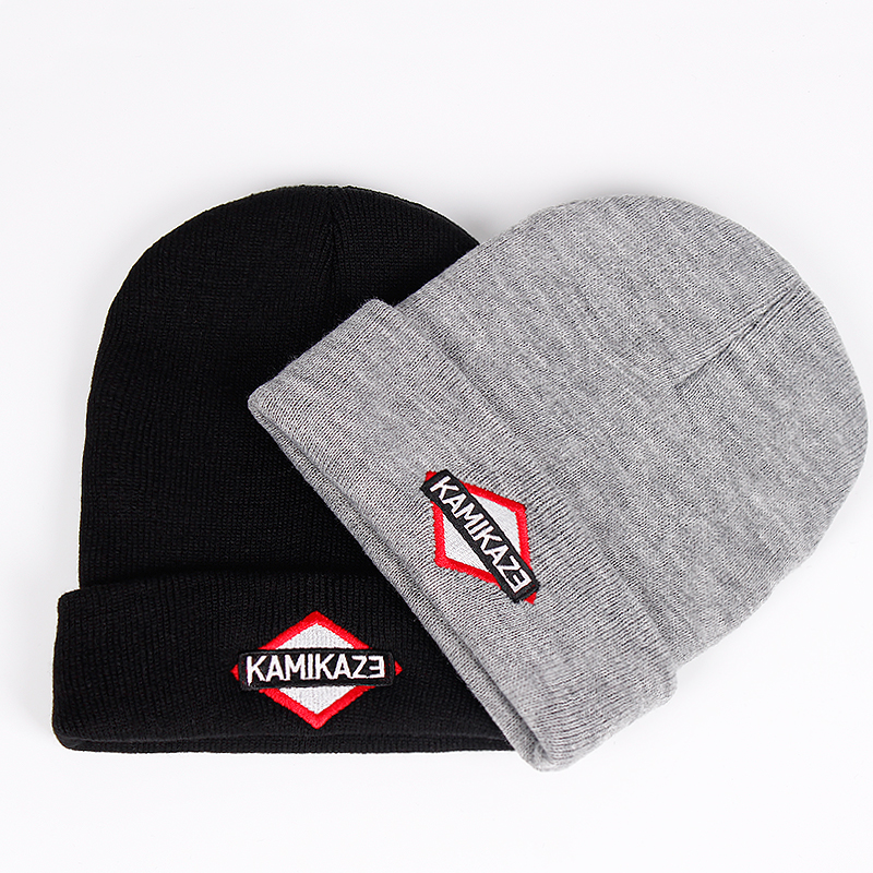 Kamikaze Knitted Hat Eminem Latest Album Hats Elastic Brand KAMIKAZE Embroidery   Beanie   Winter Warm   Skullies   &   Beanies   Ski Cap