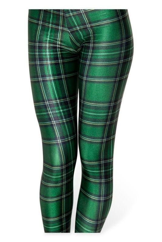 MINSUNDA Hot Sexy Fashion Women Clothes TARTAN GREEN 3D Print Galaxy Fitness Tights Girls Pencil Pants Super Wholesale