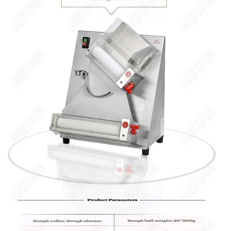 DR2A electric commercial stainless steel pizza dough roller/dough sheeter machine/dough press machine 5