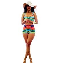 Women Two-Piece Set Sexy Striped Color Print Short Suit Spaghetti Straps Arabesquitic Tasseled New Summer Fashion Beachwear 2019