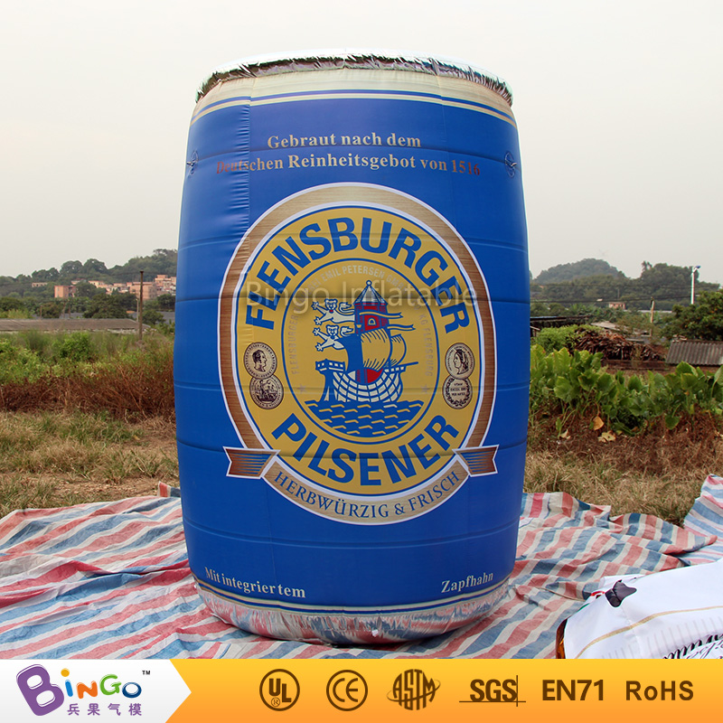 3M / 10ft High Blue inflatable beer can / beer barrel tin inflatable advertising balloon advertising toy