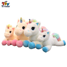 Plush Rainbow Unicorn Toy Stuffed Horse Animal Doll Appease Toys Pillow Cushion Baby Kids Children Birthday Gift Home Decor цена в Москве и Питере