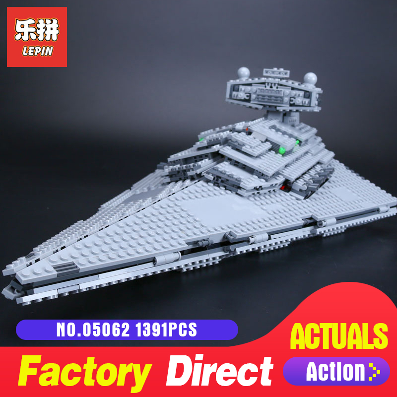 1359Pcs Lepin 05062 Star The Imperial Super Destroyer Set Educational Building Blocks Bricks Toys LegoINGlys 75055 Wars lepin 05062 1359pcs series the imperial super star destroyer set building blocks bricks compatible with 75055 boy toy
