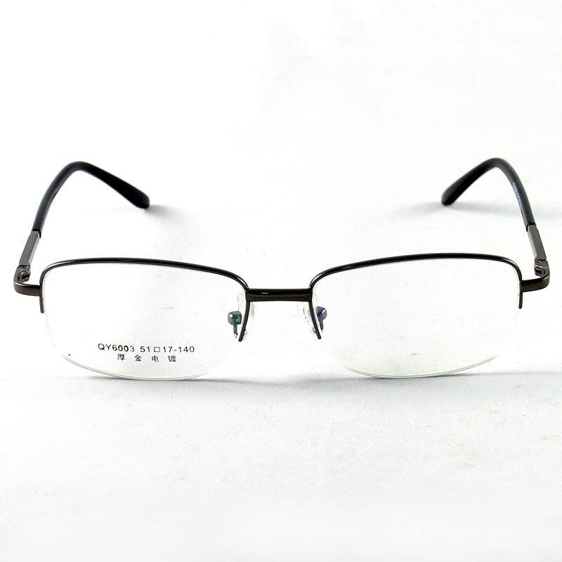 Modemarke männer Brille Halb Randlose Brille Rahmen Brillen Optische ...