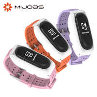 Mijobs Mi Band 3 Wrist Strap Bracelet for Xiaomi Mi Band 3 Smart Watch Accessories MiBand3 Silicone Wristbands Pulseria Miband 3