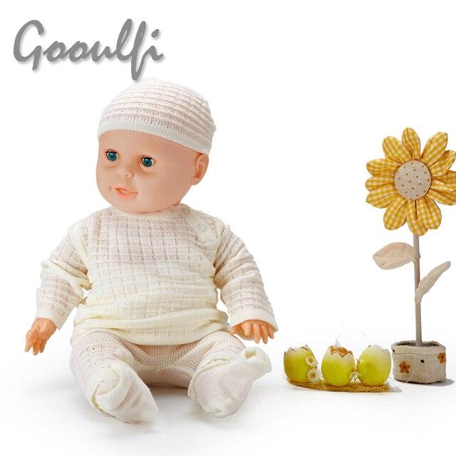 Новый Ребенок верхняя одежда Шею вязаный Свитер 4 шт. Подарочный Набор Новорожденного зимняя одежда Детская Одежда