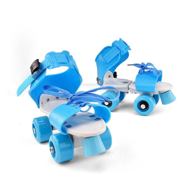 18-32 Cm Einstellbare Kinder Rollschuhe 9 Farben Zweireihig 4 Räder Skating Schuhe Für Kinder Jungen Geschenke Zwei Linie Spielzeug Patines Entlastung Von Hitze Und Sonnenstich Skate-schuhe