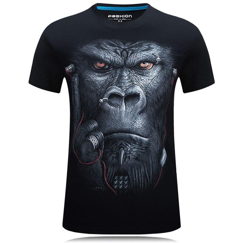 2018 Mens Fashion 3d Gedruckt T Hemd Homme Neuheit Design Tier Tops Marke Kleidung Beiläufige Kurze Hülse O-ansatz T-shirt Männliche Tees