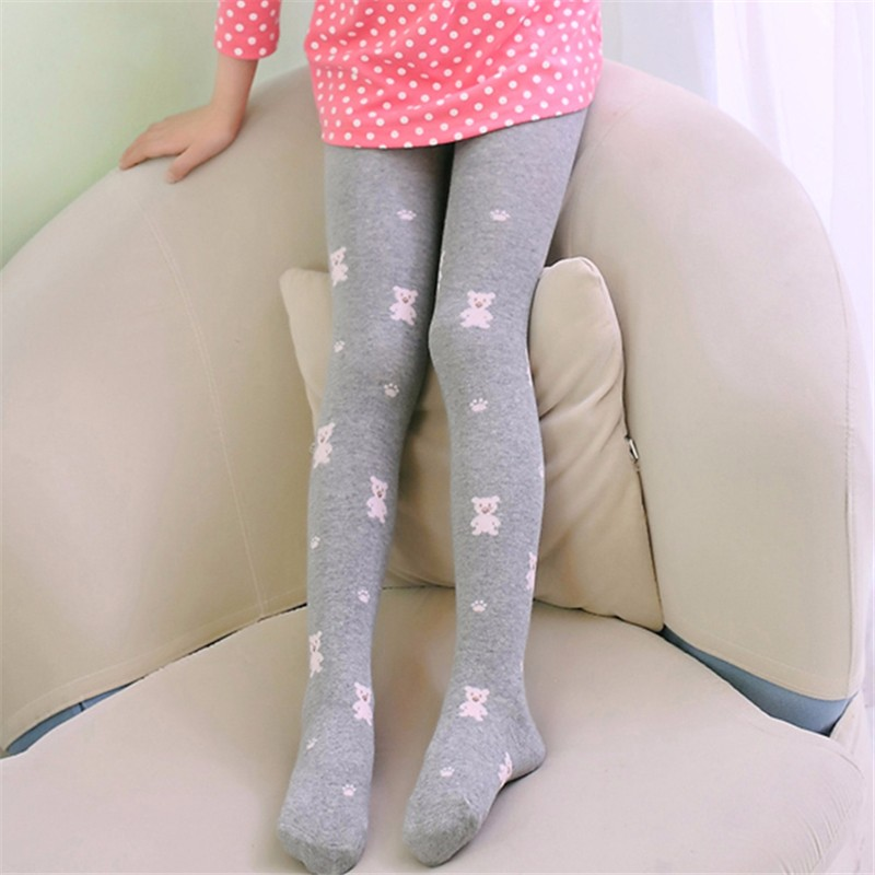 Teenage Girl Cute Color Stretch Comfortable Pantyhose (3)