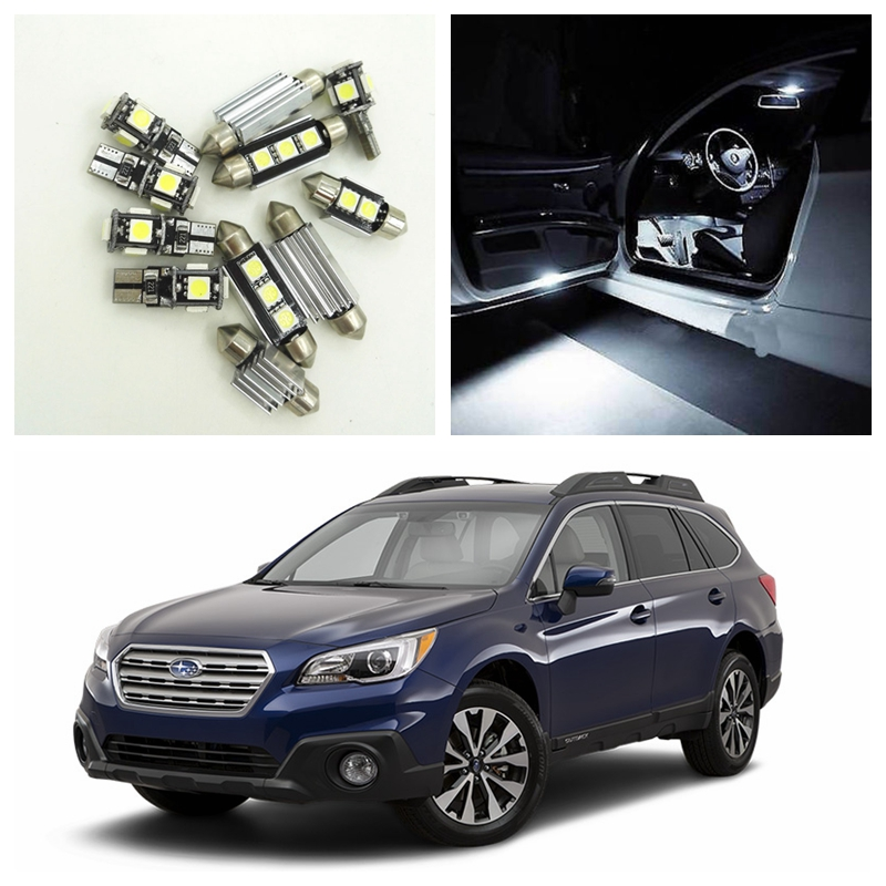 10pcs White Car LED Light Bulbs Interior Package Kit For 2014 2015 Subaru Outback Map Dome Trunk Door License Plate Lamp shanghai chun shu chunz chun leveled kp1000a 1600v convex plate scr thyristors package mail