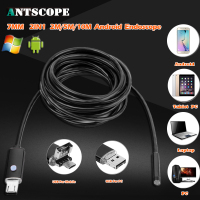 2IN1 USB IP67 HD Waterproof Endoscope Lens 7mm 2M 5M 10M 6 LED Inspection Borescope Snake