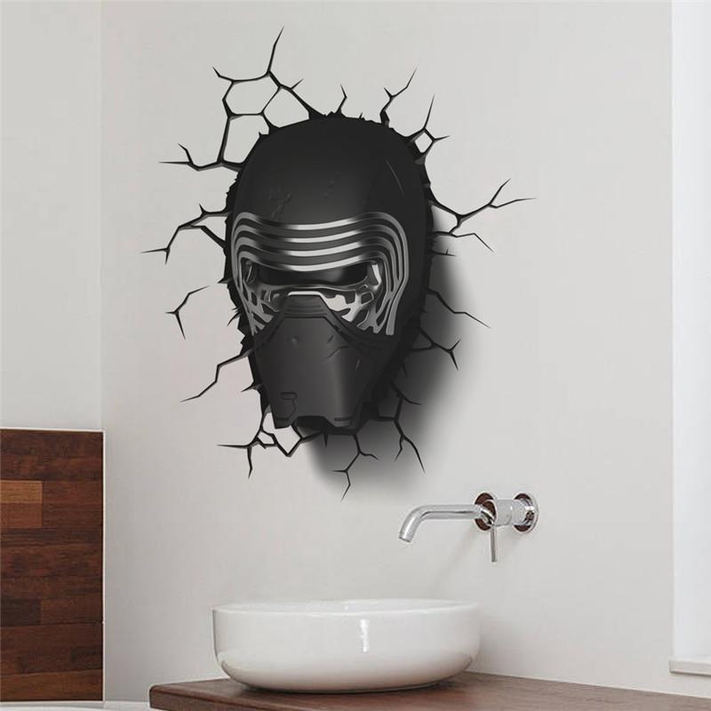 star wars kylo ren 3d effect wall sticker. Black Bedroom Furniture Sets. Home Design Ideas