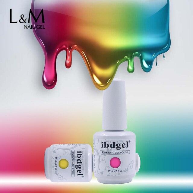 6pcs ibdgel Uv/LED light Gel Nail polish durable soak off uv gel ...