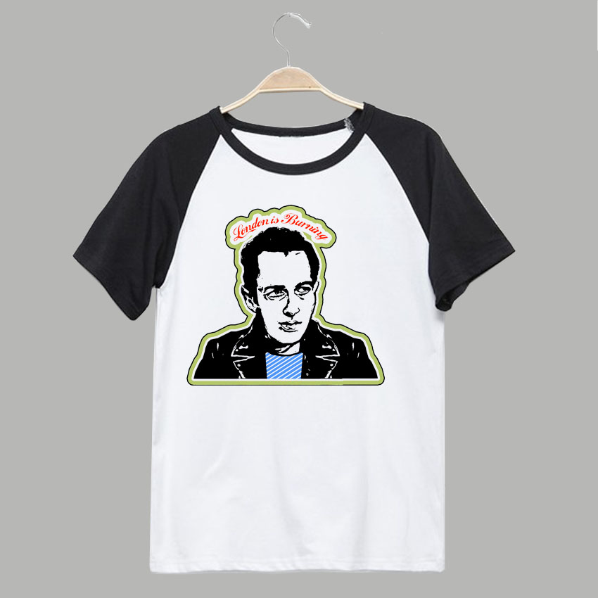 The clash joe strummer london is burning punk rock t shirt casual style ...