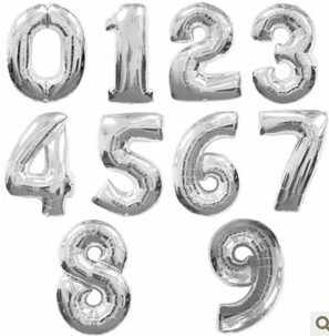 32 дюйма Фольга воздушные шары цвета: золотистый, серебристый воздушный шар с гелием на свадьбу с днем рождения воздушные шарики для украшения номер гигантский воздушный шар шарики для вечеринки
