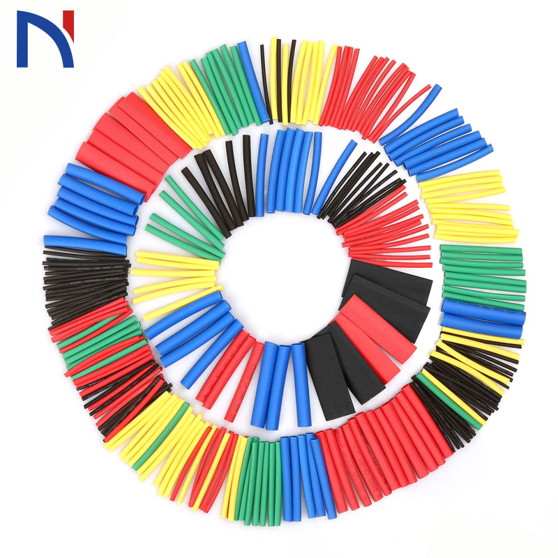 328pcs 8 sizes Heat Shrink Tubes Tubing Shrinkable Sleeving Wraps Wire Cable US