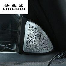 Для Mercedes Benz S class W222 S320 400 500 стайлинга автомобилей аудио Динамик Обложки Обрезать наклейки украшения авто аксессуары для интерьера