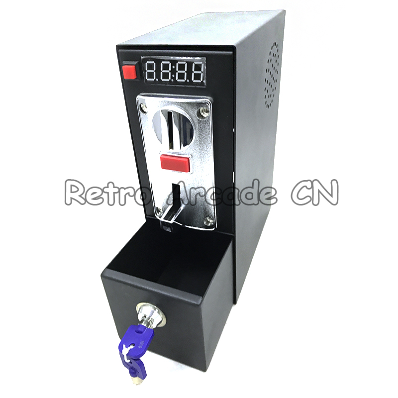 DG600F Coin operated Timer Control box with six kinds coin selector acceptor for washing machine massage