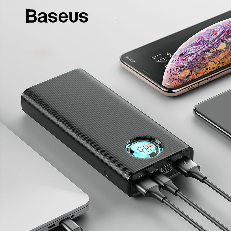 Baseus 20000Mah Energy Financial institution For Iphone Samsung Huawei Sort C Pd Quick Charging + Fast Cost 3.zero Usb Powerbank Exterior Battery