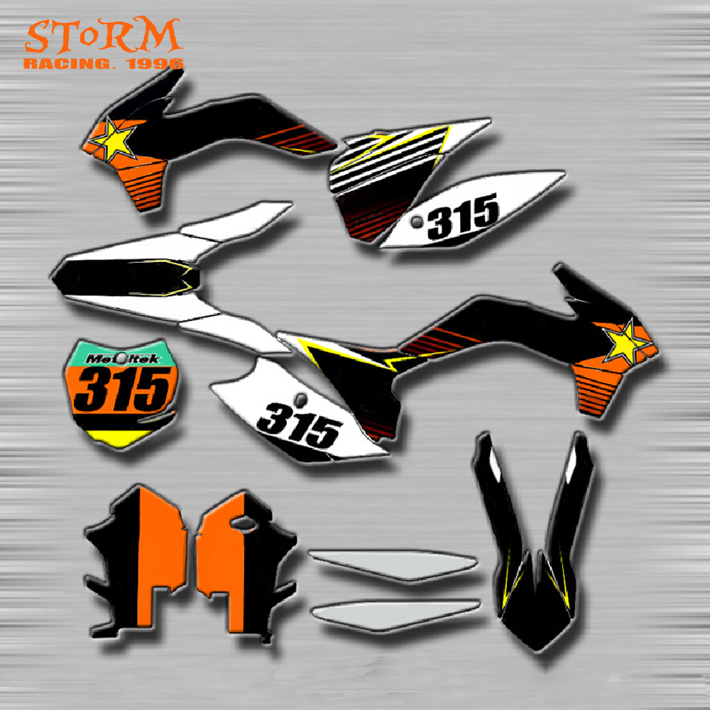 Decals Graphics With Matching Backgounds Customize Stickers Kits For KTM EXC XC SX SXF SXS SMR XCW XCF MX EGS 125-525 Motocross cnc stunt clutch lever easy pull cable system for ktm exc excf xc xcf xcw xcfw mx egs sx sxf sxs smr 50 65 85 125 150 200 250