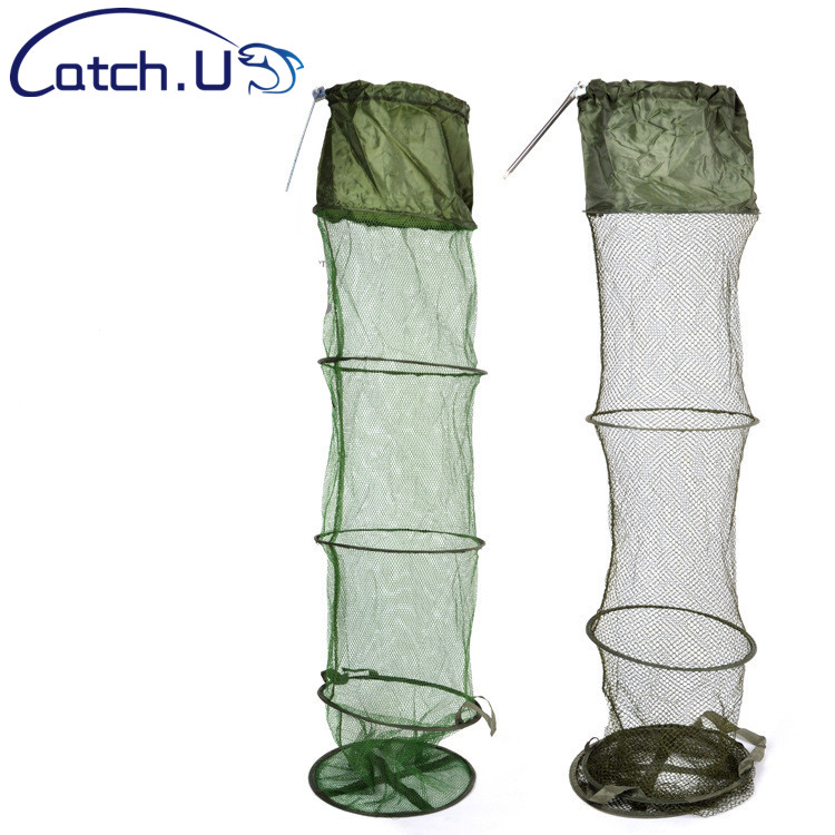 Portable 5 Layer Fishing Net Round Folding Fish Shrimp Mesh Cage Cast Net Fishing Trap Network Fold Landing Net