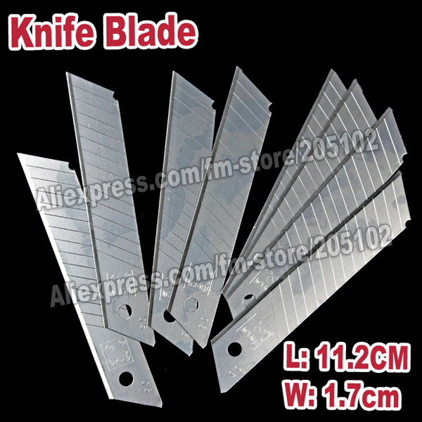 10pcslot 11.2x1.7cm Fillet Knife Blade Stainless steel for stationery multi-purpose of DIY tools office cutting paper work