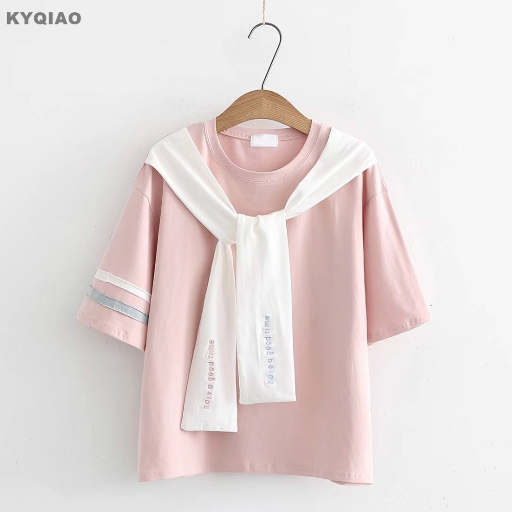 Strong-Willed Lolita Shirt 2019 Mori Girls Autumn Spring Japanese Style Fresh Cute Long Sleeve Pink White Blue Bowknot Blouse Blusa Top Women's Clothing