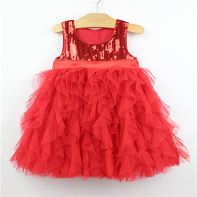 2016 new sweet girls sequin dress party pageant dress for
