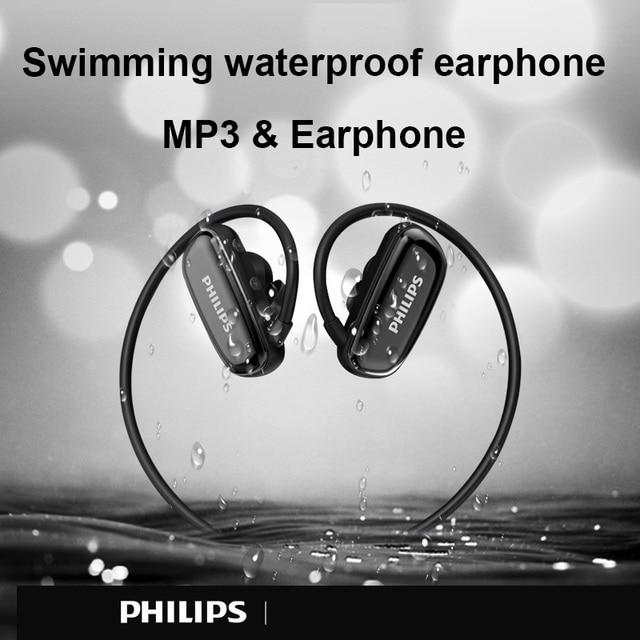Philips Original 8GB Waterproof MP3 Player Bluetooth Headphone Sport Wireless Headset Swimming Music Player Earphone SA6608