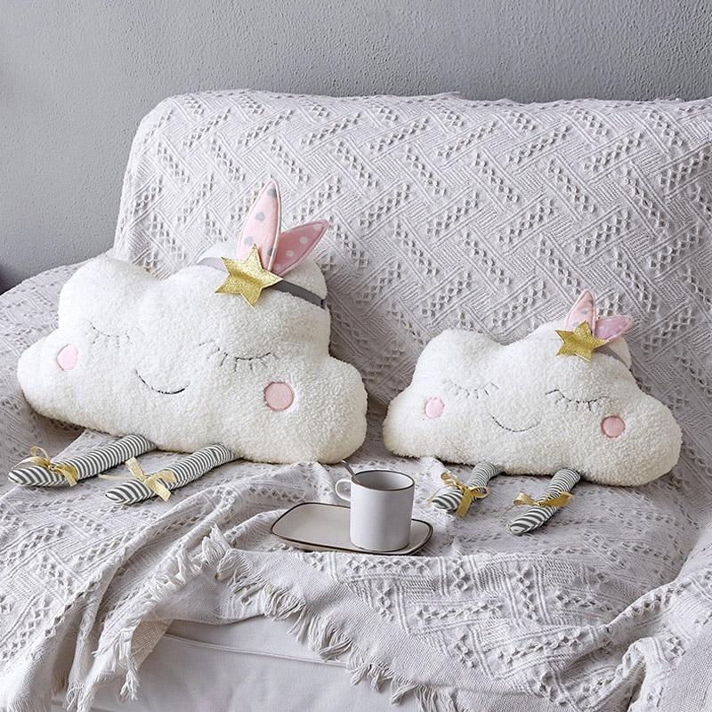 New  Cloud Baby Room Wall Decor Pillow for Kids Plush Stuffed Toys Newborns Cushion Photography Props Gi