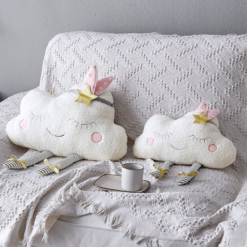 Cloud Baby Room Wall Decor Pillow for Kids Plush Stuffed Toys Newborns Cushion Photography Props Girls Gift Children Products