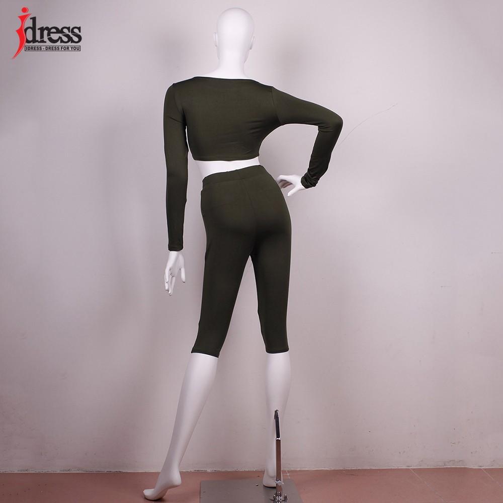 IDress Women Two Piece Bodycon Jumpsuit Playsuit New 2016 Summer Knee Length Black Bodysuit Sexy Club Elegant Rompers Womens Jumpsuit (7)
