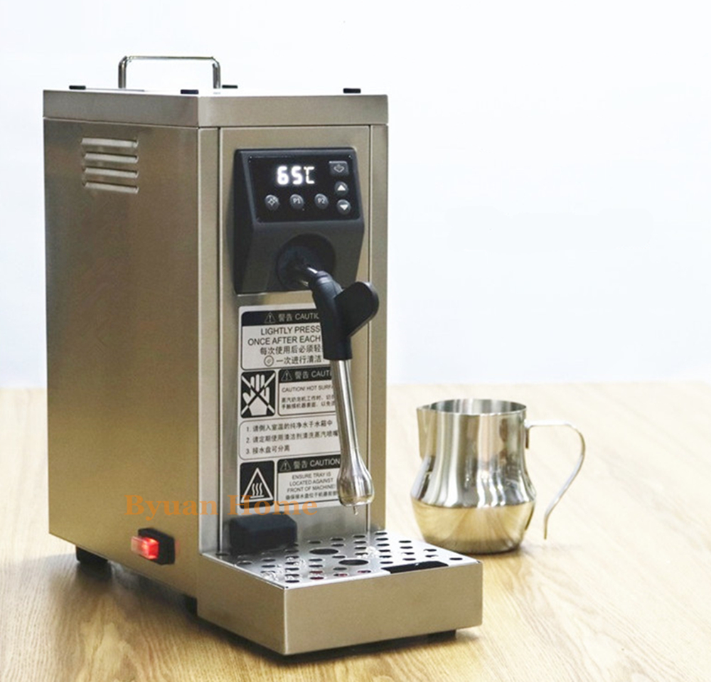 New LCD Commercial Portable fully automatic milk steamer coffee frother electric frothing coil cappuccino latte coffee