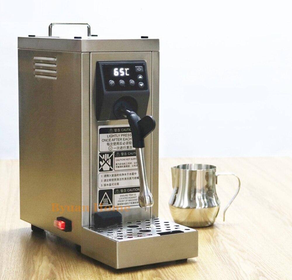 新しい液晶商業ポータブル完全自動ミルク汽船コーヒー泡立て器電動&泡立てコイルカプチーノラテコーヒー発泡  グループ上の 家電製品 からの ブレンダー の中 1