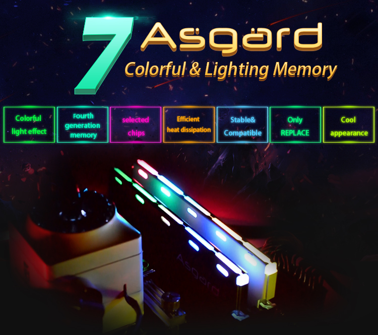 Kết quả hình ảnh cho ASGARD LOKI RGB 8G/2666