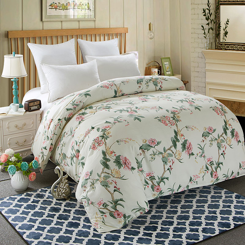 Thick Cotton Quilt Cover Reactive Print Sanding Duvet Cover Home Bedding Twin Full Queen King for Autumn Winter One Piece #255-1