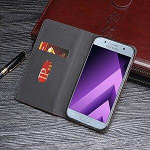 Image 5 - Magnete di Vibrazione Del Libro Del Raccoglitore della Cassa Del Telefono Della Copertura del Cuoio Per Samsung Galaxy UN A3 A5 A7 3 5 7 2017 2/3 16/32/64 GB A320F A520F A720F